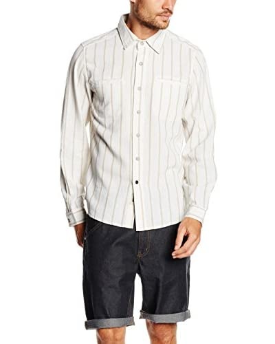 Lightning Bolt Camisa Hombre Overdye Stripe Ls Shirt
