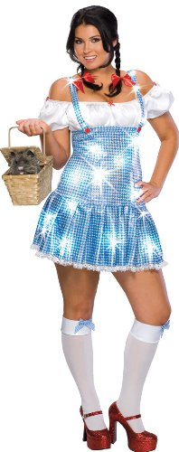 Wizard Of Oz Secret Wishes Plus Size Sequin Dorothy Costume