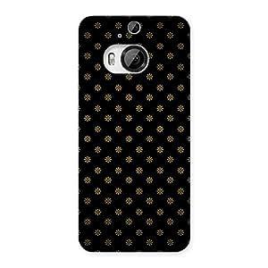 Ajay Enterprises Extant Golden Flowers Back Case Cover for HTC One M9 Plus