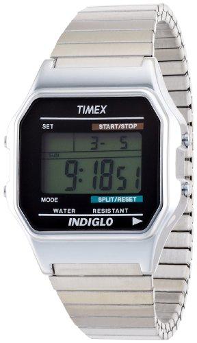 Timex Digital Silver Expandable Bracelet - T78587PF