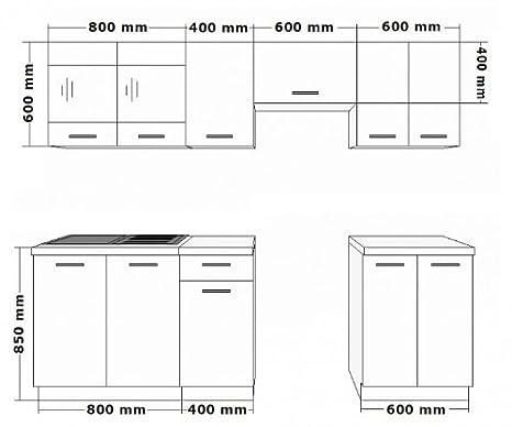 k che dave 240 cm k chenzeile k chenblock variabel stellbar in. Black Bedroom Furniture Sets. Home Design Ideas