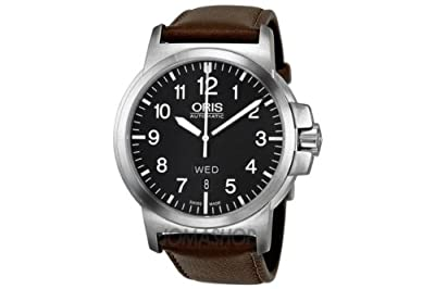 Oris 73576414164LS BC 3 Black Dial Brown Leather Mens Watch 735-7641-4164LS from Oris
