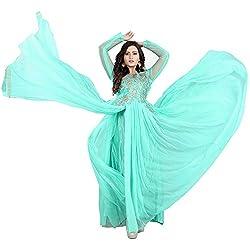 BK ENTERPRISE Women's Multi colour Net Attractive Gown (bk-5003_freesize)