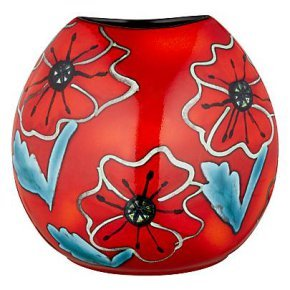 Poole Pottery Poppy Field Purse Vase 20cm