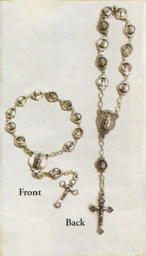 One Decade Finger Rosary with Our Lady of Guadalupe Medallions and Crucifix - MADE IN ITALY