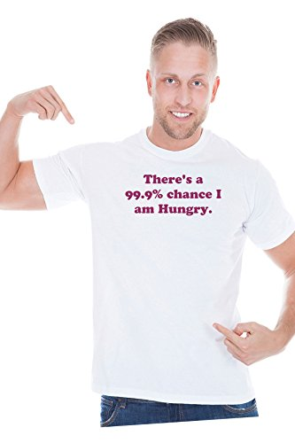 there-is-a-chance-i-am-hungry-funny-food-exclusive-quality-t-shirt-for-herren-xs-shirt