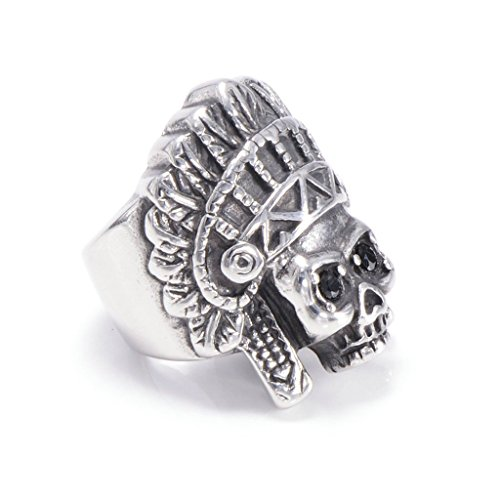 mens-316l-stainless-steel-vintage-indian-ring-silver-gothic-vintage-biker-size-z-1-2