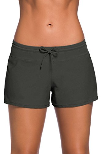 Happy Sailed Women Swimsuit Tankini Bottom Board Shorts, XX-Large Grey Bottoms Casual Shorts