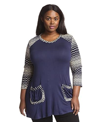 Aster Plus Women's Zig Zag Accent Tunic