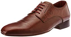 Alberto Torresi Mens Tan Leather Formal Shoes - 6 UK