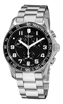 Victorinox Swiss Army Men's 241494 Chrono Classic Black Chronograph Dial Watch by Victorinox Swiss Army