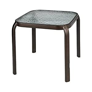 courtyard creations woodfield stacking side table 16 by 16 inch patio side. Black Bedroom Furniture Sets. Home Design Ideas
