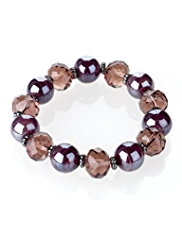 M&S Collection Swirl Bead Stretch Bracelet