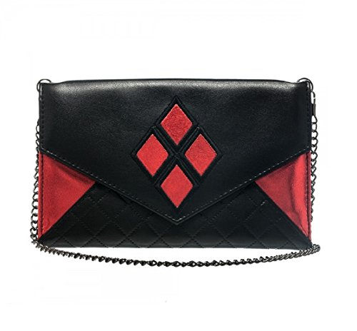Harley Quinn Envelope Wallet with Chain