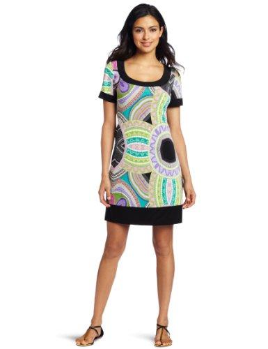 Tiana B Women's Mosaic Short Sleeve Retro Dress