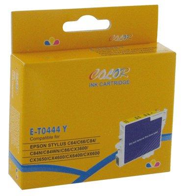 CART COMP EPSON C64-C84 COULEUR Jaune recharge jaune compatible t0444 epson capacité standard: 48...