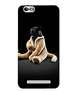 Case Cover Cartoon Printed Black Hard Back Cover For Lenovo Vibe C A2020
