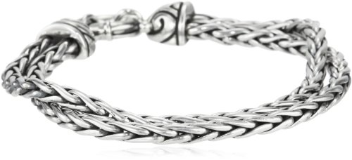 Zina Sterling Silver Double Chain Bracelet