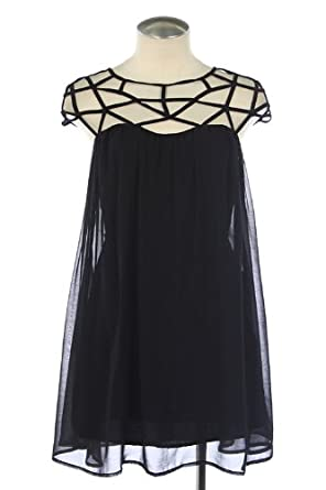 AMAZING CHIFFON TRENDY CAGE DRESS