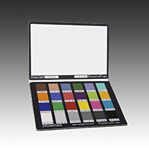 CameraTrax 24ColorCard-3x5 (OneSnapColor) with 12% White Balance Card and User Guidebook
