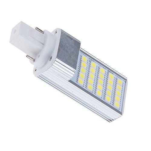 S6Store® 5W E27 Ac 85-265V G24 25 Leds Smd 5050 180 Degree Cold White Led Corn Bulb Lamp Light For Home For Business Spotlight (3 Pack)