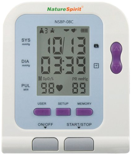 Cheap NatureSpirit Up-Arm Digital Blood Pressure with USB Analytical Software Port to Measure Blood Oxygen Level, 1.4 Pound (B009CUEFEQ)