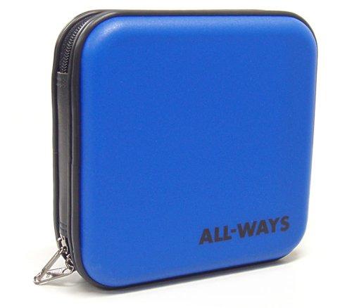 ALL-WAYS CD/DVDケース24枚収納キャリーケース ブルー ACDC24BL