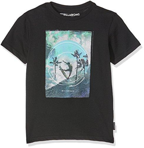 G.S.M. Europe - Billabong Elevation - Maglietta da ragazzo a maniche corte, da ragazzo, Ragazzo, T-Shirt ELEVATION BOYS Short Sleeve, nero, 164