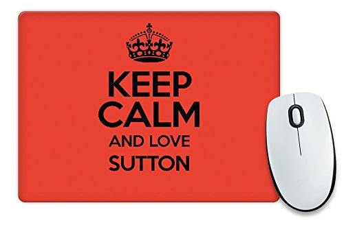 RED Keep Calm and Love Sutton-Tappetino per il Mouse COLOUR 0638-Stivaletti alla caviglia