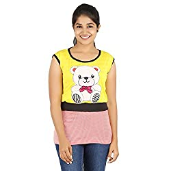 Knit Abc Garments Women's Character Top(KA-WTOP-DY-24-RD-YL-S_Multicolor_Small)