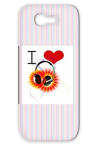 Black Tear-Resistant Rock Love Music Unique Pop Hip Hop Music Heart Art Rap Country Original Hot Headphones New Soul Cool Tpu Case For Sumsang Galaxy Note 2 I Heart