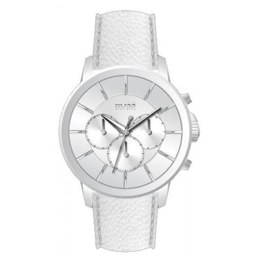 Hugo Boss All White Chronograph White Dial White Leather Mens Watch 1512907