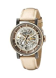 Fossil Women's ME3079 Original Boyfriend Analog Display Automatic Self Wind Beige Watch