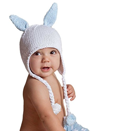 Huggalugs Hugbunny Boys or Girls Blue Beanie Hat