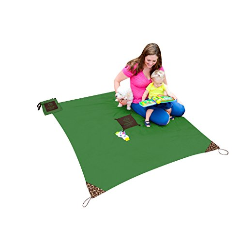 Monkey Mat: Your Portable Floor - 5' x 5' Portable Nylon Mat (Green Meadow)