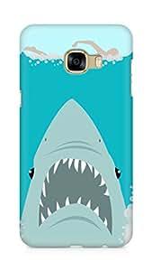 Amez designer printed 3d premium high quality back case cover for Samsung Galaxy C5 (Sharkweek)