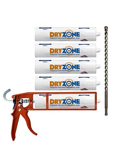 dryzone-damp-proofing-kit-5-x-310ml-dpc-injection-cream-cox-mastic-gun-dryzone-drill-bit-rising-damp