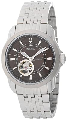 Bulova Men's 96A101 Automatic Self-Winding Mechanical Exhibition Caseback Bracelet Watch from Bulova