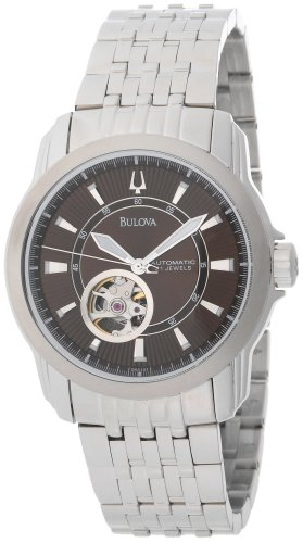 Bulova Men's 96A101 Stainless-Steel Quartz Watch with Brown Dial