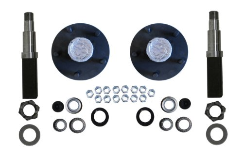 R And P Carriages 3500# Build Your Own Axle Kit With Square Spindles 5 X 4.5 Bolt Pattern