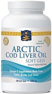 Arctic Cod Liver Oil - Lemon - 180 - Soft Gels