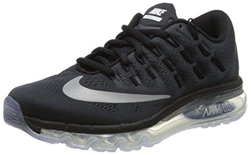 Unisex-Kinder Air Max 2016 (GS) Sneakers, Schwarz (001 Black/Reflect Silver), 36.5 EU