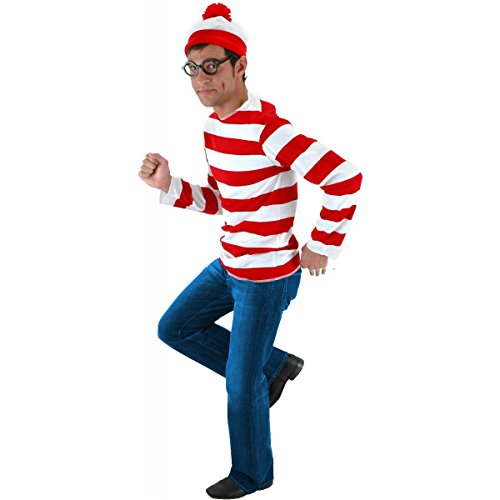 Wmu - Men's Costume: Where's Waldo Kit- Small/Medium