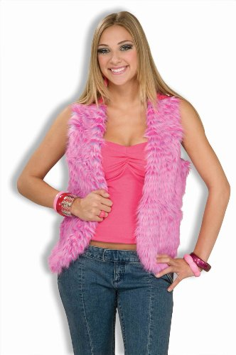 Forum Novelties Women's 60's Mod Revolution Groovy Pink Vest Costume Accessory