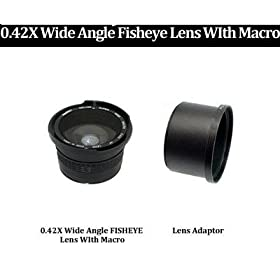 iConcepts 0.45x High Definition Wide Angle Conversion Lens for Kodak Easyshare Z740 Includes Lens Adapter