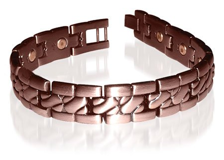 New Copper Power Golf Magnetic Link Bracelet 8.5 inches