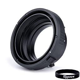 Eggsnow Interchangeable Adapter (Bowens to Elinchrom Mount) for Indoor & Outdoor Studio Flash