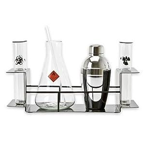 3b scientific chemistry cocktail set for drink mixing kitchen dining. Black Bedroom Furniture Sets. Home Design Ideas