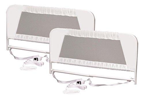 KidCo-Convertible-Crib-Mesh-Bed-Rail-White-2-Count