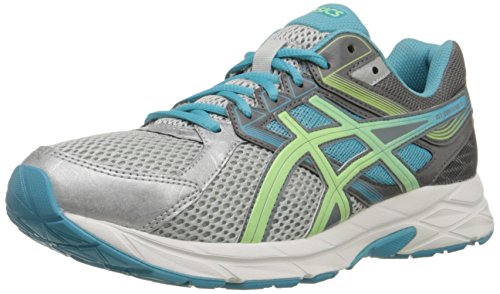 ASICS Women's Gel-contend 3 Running Shoe, Silver/Pistachio/Teal, 7 M US